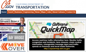 Brown Caltrans Web site