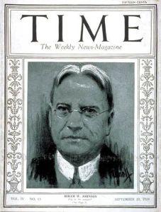 Hiram Johnson - Time magazine cover