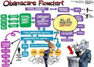 Obamacare flowchart, Nate Beeler, Oct. 7, 2013