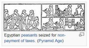 Taxes, egyptian peasants, wikimedia'