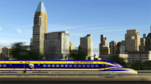 high-speed rail in city