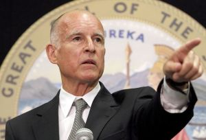 Attorney General  Jerry Brown speaks news conference disclose new developments in his prope of excessive salaries in the City of Bell, in Los Angeles  Monday, July 19,     2010. (AP Photo/Nick Ut)