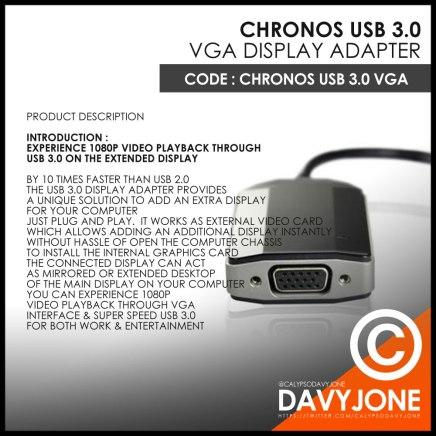 Chronos USB 3.0 VGA Display Adapter