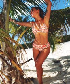 Bikini con estampa metalizada Berenson Retro