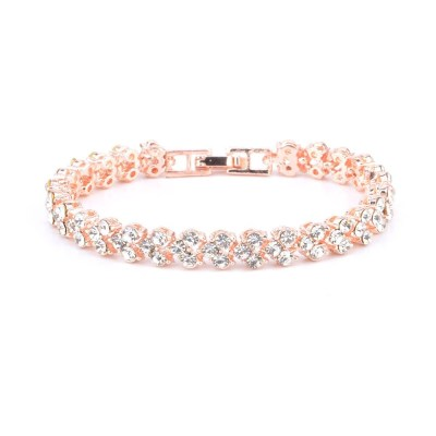 Bracelet CRYSTA Couleur Or Rose