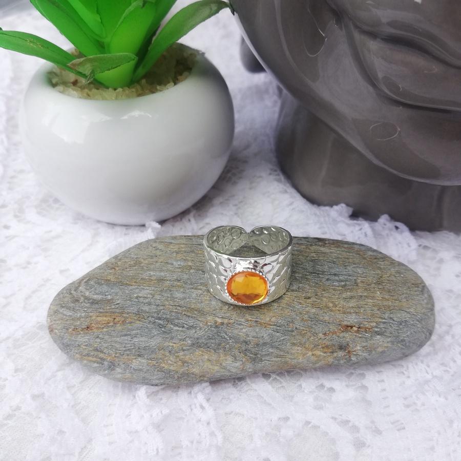 Bague Ajustable Cristal