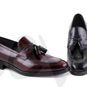 Zapatos Mocasines clásicos con borlas para hombre en piel 10743