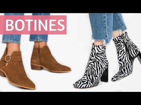 MODA en BOTINES planos y con tacón alto | Tendencias en Zapatos de estilo Otoño Invierno 2019 2020