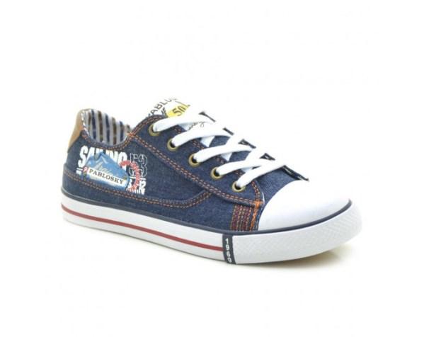 Zapatillas de Lona niño azul 955920 Pablosky lado