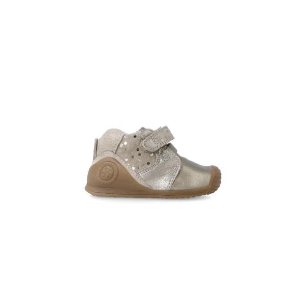 Botines Biomecanics para bebé niña Dasia dorado lado