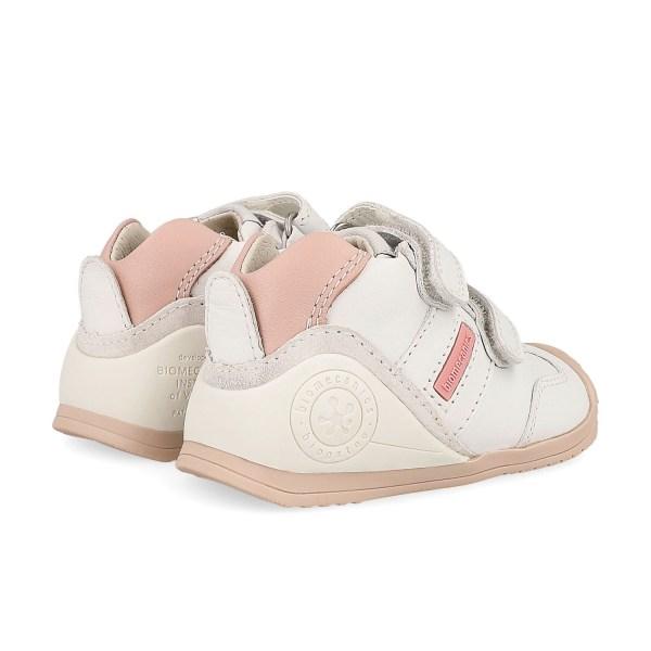Deportivo Biomecanics para bebé Lia blanco-rosa talón