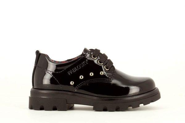 Zapato colegial charol negro 341619 Pablosky lado