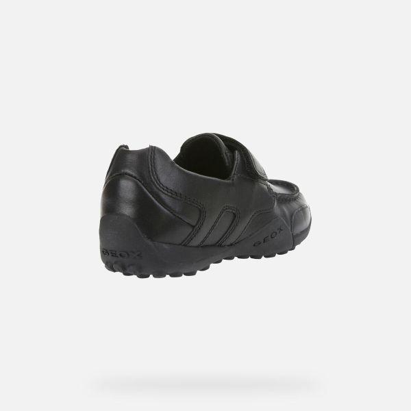 Zapatos Snake de niño Geox marino talón dcho