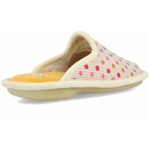 Zapatillas de casa Biorelax lunares talón