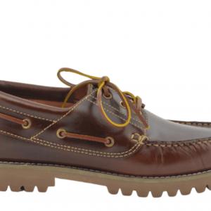 Zapatos de niño Yowas marrón cordón lado