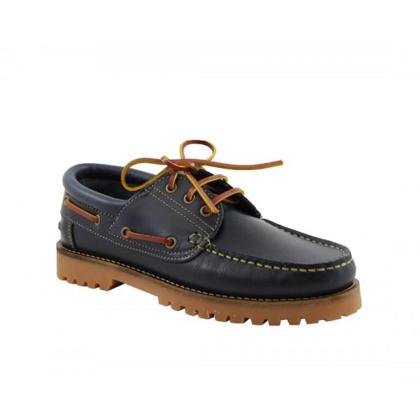 zapato de niño yowas marron diagonal