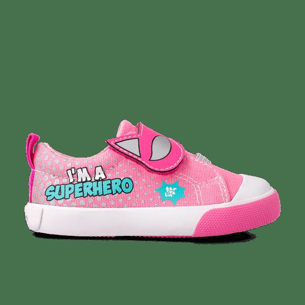 Zapatilla Lona niña SuperGirl Garvalín lado