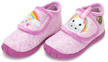 Botitas de casa para niña unicornio rosa Zapy