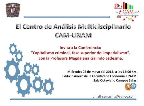 Conferencia: capitalismo criminal, fase superior del imperialismo
