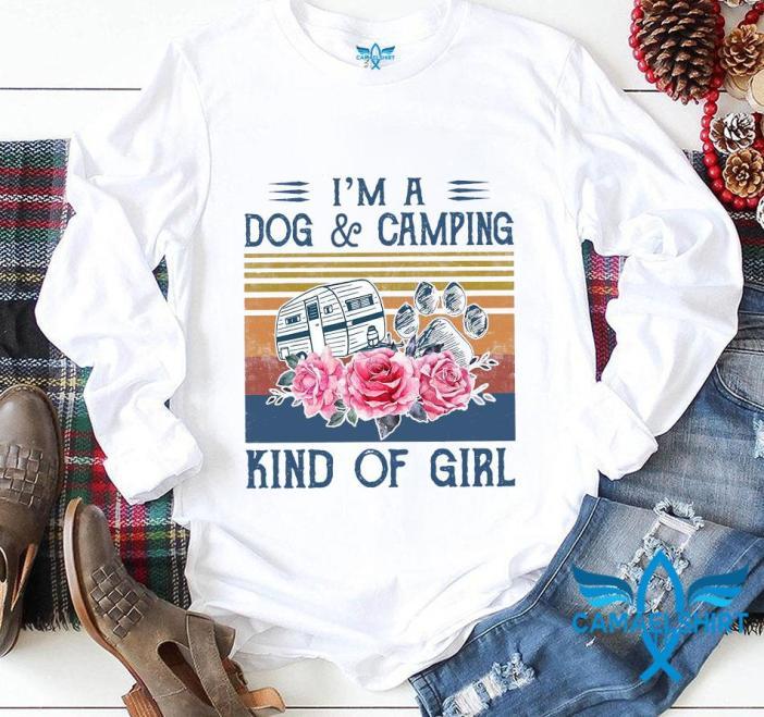 Im a dog camping kind of girl vintage t-s longsleeve