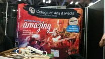 Setting up the Trade Show Booth