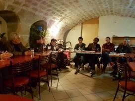 Au côté de Michel Mongkhoy à la réunion publique du groupe Crimée le 7 mars 2017