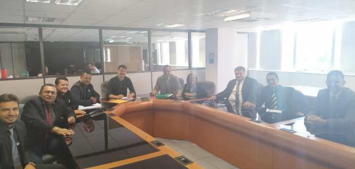 Vereadores em reunião no INSS de Brasília