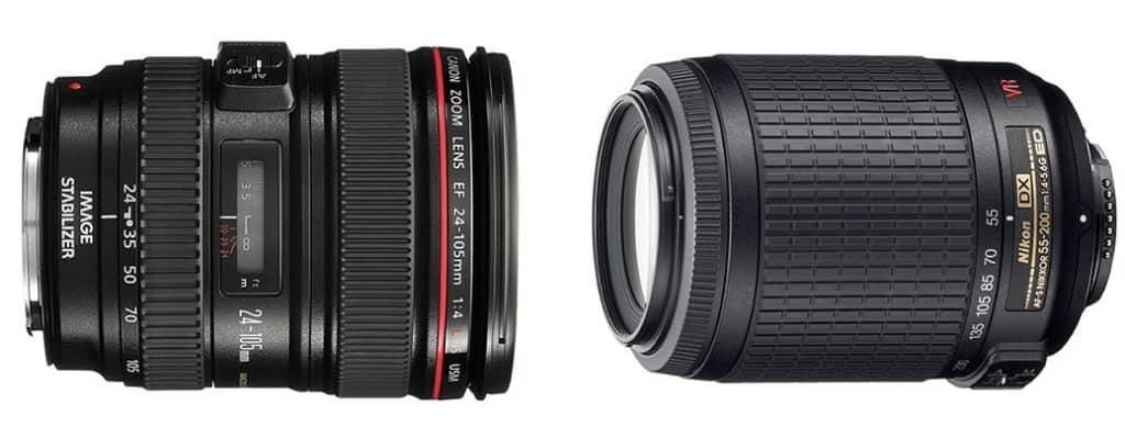 Canon vs Nikon: Objetivos que solo vamos a encontrar en una de las marcas