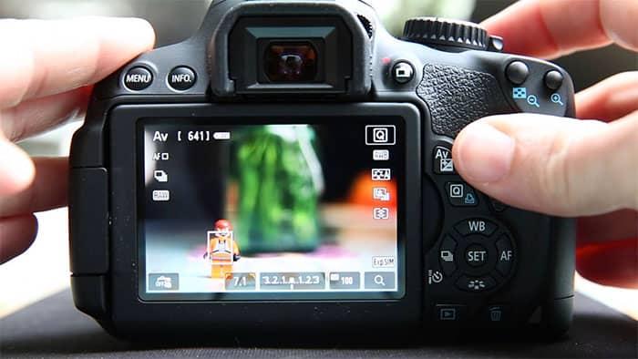 Utiliza el modo Live View cuando enfocas manualmente