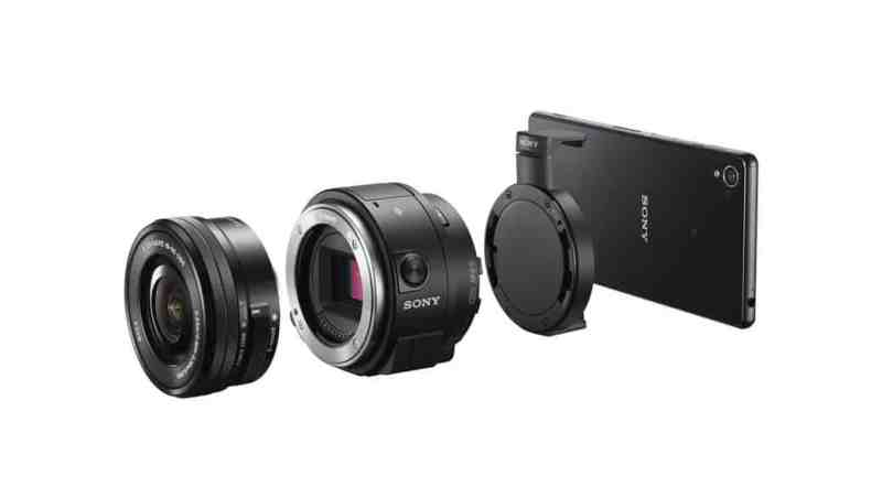 Sony presenta las lentes QX1 y QX30 con sensor APS-C y E-mount para smartphones