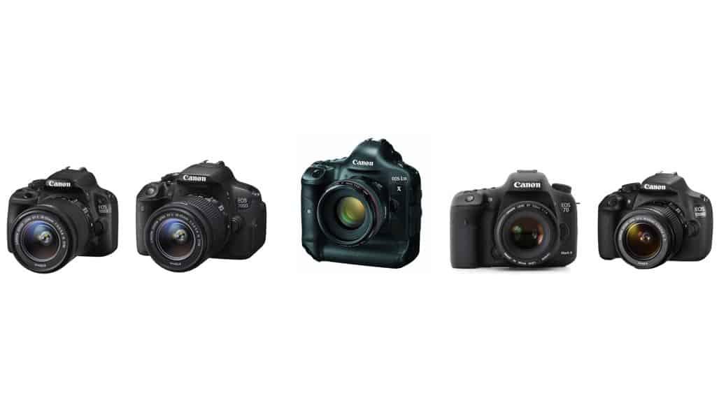 Cámaras de Canon: cámaras DSLR (réflex)