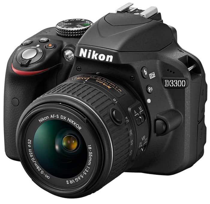 """Nikon D3300 + 18-55 AFP VR - Cámara réflex digital de 24,2 MP (pantalla LCD de 3"""", estabilizador, vídeo Full HD)- kit con objetivo 18-55MM AFP VR"""