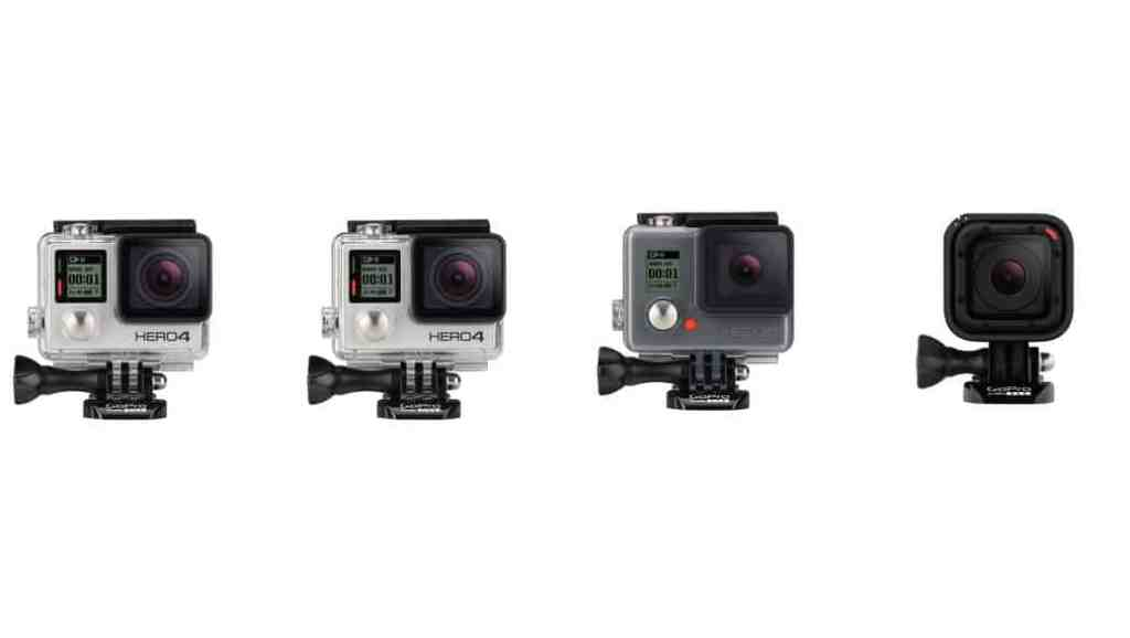 Comparativa de características: GoPro Hero4 Black vs GoPro Hero4 Silver vs GoPro Hero4 Session vs GoPro Hero+LCD