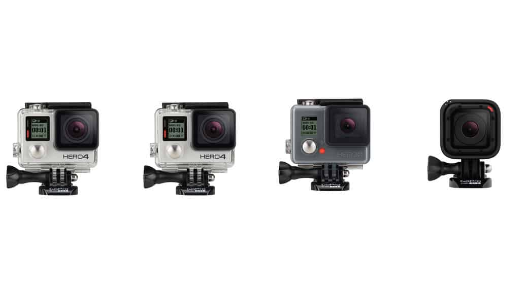 Comparativa de características: GoPro Hero4 Black vs GoPro Hero4 Silver vs GoPro Hero4 Session vs GoPro Hero+LCD vs GoPro HERO5 Black vs Gopro HERO5 Session