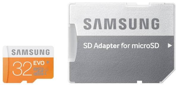 Samsung Evo MB-MP32DA/EU - Tarjeta de memoria micro SDHC de 32 GB (UHS -I Grade 1, Clase 10, con adaptador SD)