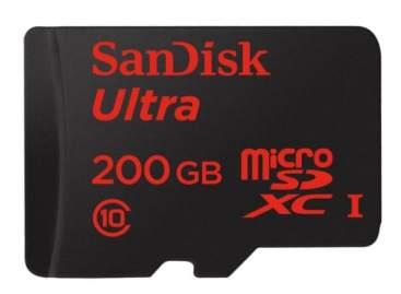 SanDisk SDSQUNC-200G-GZFMA - Tarjeta memoria microSDXC de 200 GB en oferta por menos de 80 euros