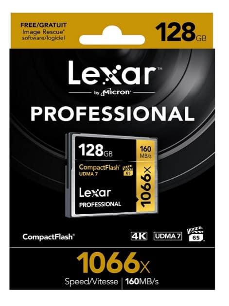 Lexar Professional - Tarjeta de memoria CompactFlash 1066x de 128 GB