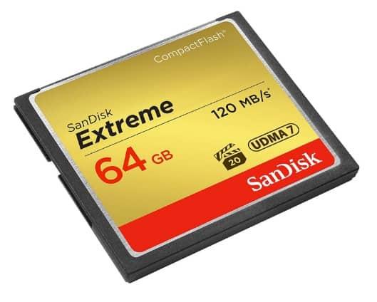 SanDisk SDCFXSB-064G-FFP Tarjeta de memoria Compact Flash de 64 GB
