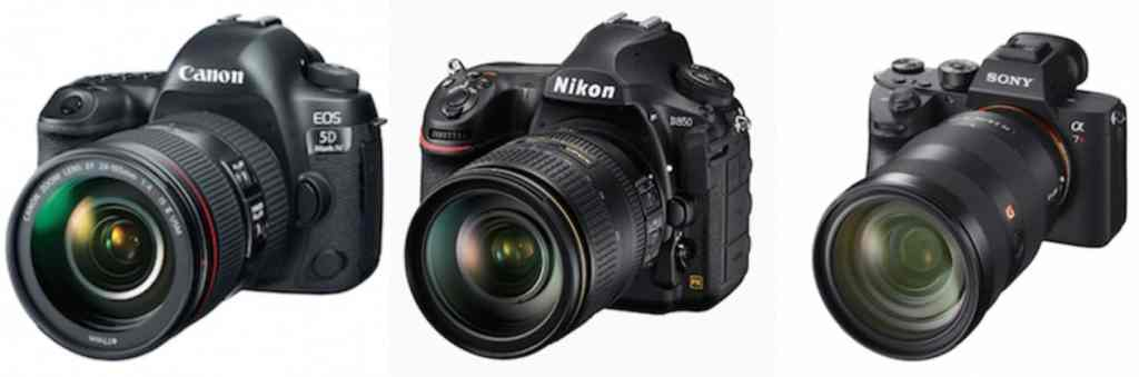 SONY A7R III vs CANON 5D MARK IV vs NIKON D850
