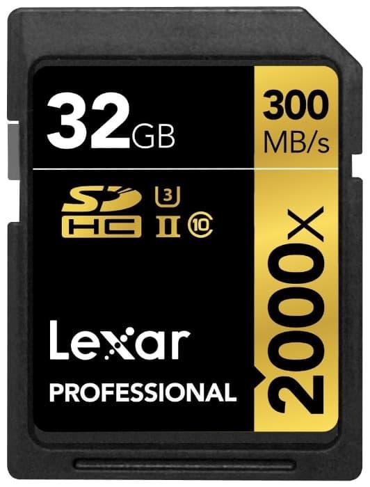 Lexar Professional Class 10 UHS-II 2000X de 32GB