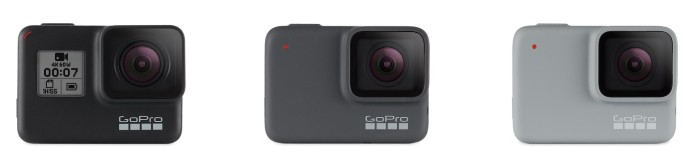 GoPro HERO7 Black, Silver, White
