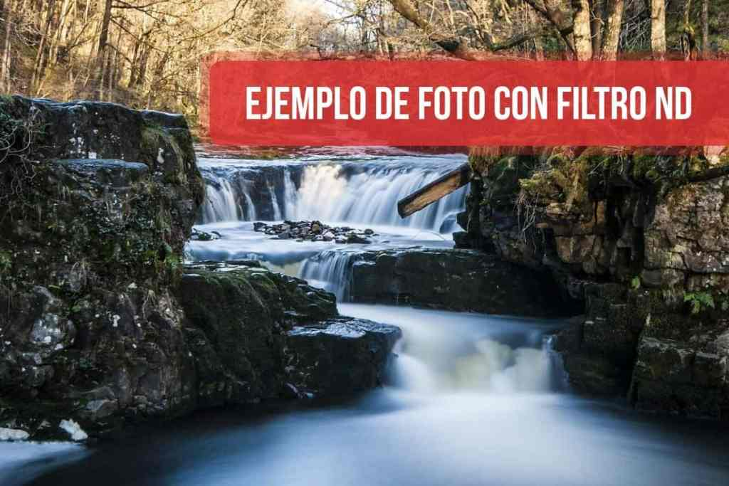 Ejemplo de foto con filtro ND