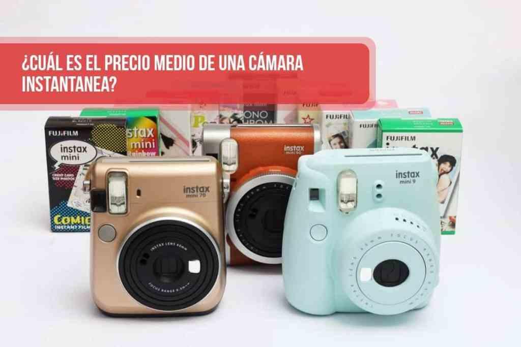 ¿Cuál es el precio medio de una cámara instantanea? ¿Qué cámara analógica es la más barata?