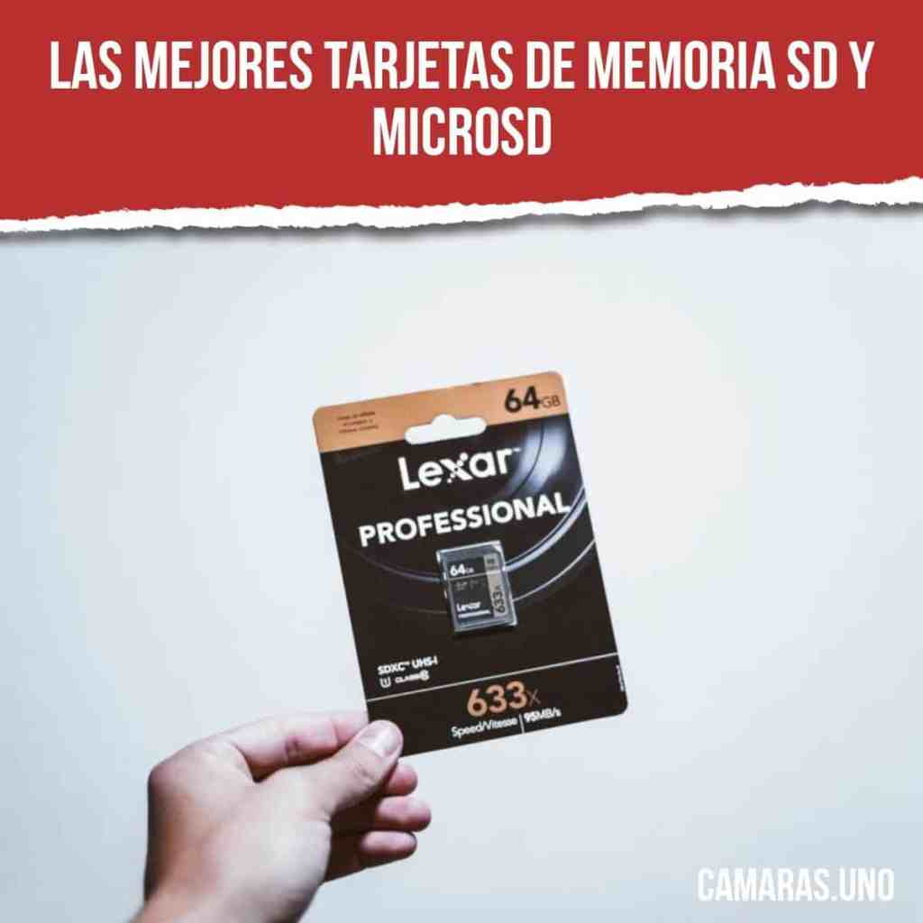 mejores tarjetas de memoria SD y microSD clase 10 para tu cámara