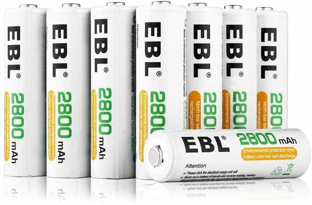 Pilas recargables EBL de 2800mAh AA de Alta Capacidad (Ni-MH)