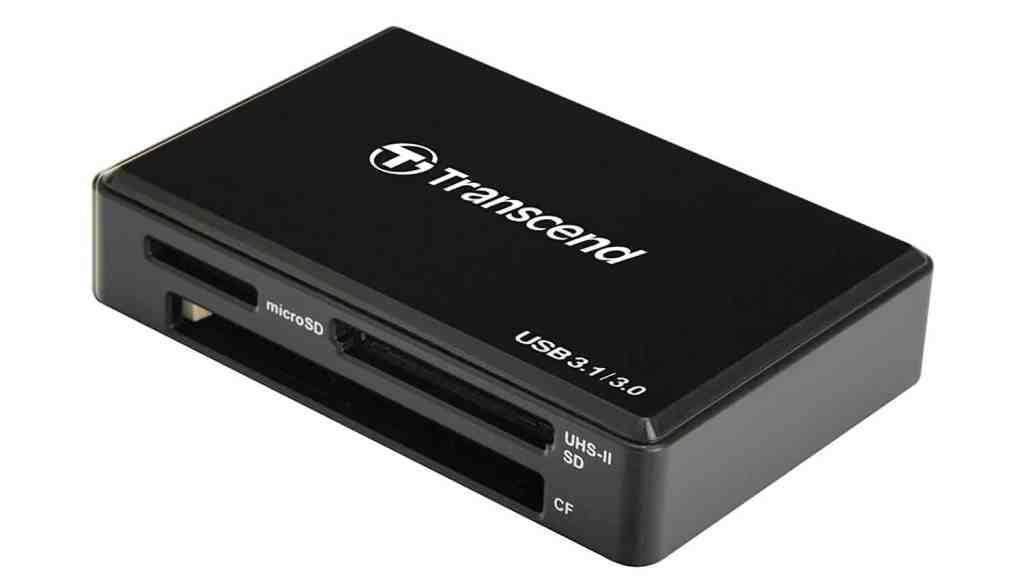 Transcend RDF9 - Lector de Tarjetas, conector USB tipo A, ranura SD, microSD, Memory Stick y CF