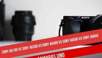 Sony a6100 vs Sony a6300 vs Sony a6400 vs Sony a6500 vs Sony a6600: comparativa