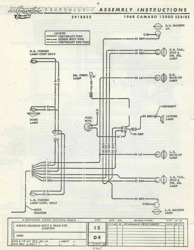 diagram 1973 camaro tail light diagram full version hd