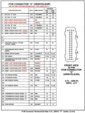 16188051 pcm pinout diagrams  Camaro Forums  Chevy