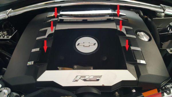 2010 – 2015 5th Gen Camaro V6 Engine Cover 6-Piece Inserts